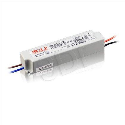 Zasilacz stałonapięciowy do LED GLP GPV-20-12 (12V 24W) HERMETYCZNY