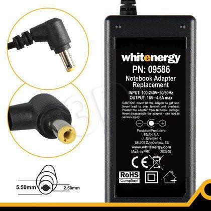 WHITENERGY ZASILACZ AC 230V/16V 4.5A WTYK5.5X2.5MM
