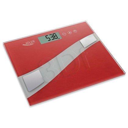 Waga łazienkowa ADLER AD 8131 (150kg/ czerwona)
