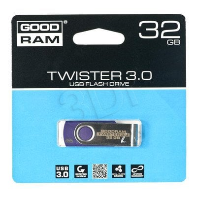 Goodram Flashdrive TWISTER 32GB USB 3.0 Fioletowy