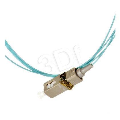 ALANTEC pigtail LSOH 2m MM OM3 1G 50/125 wtyk SC turkusowy