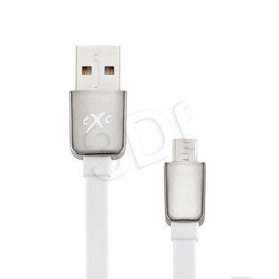 EXC UNIWERSALNY KABEL USB-MICRO USB, LINES, 2 METRY, BIAŁY