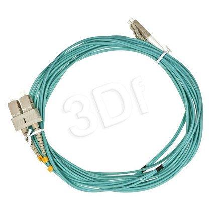 ALANTEC patchcord światłowodowy MM LSOH 5m OM3 LC-SC duplex 50/125 turkusowy