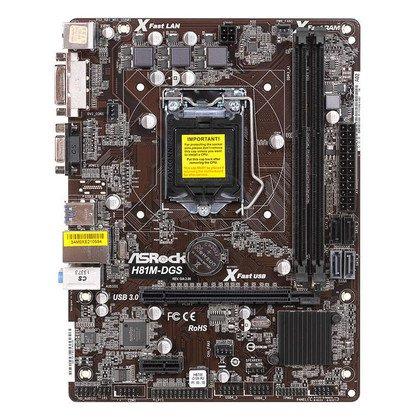 ASROCK H81M-DGS R2.0 H81 LGA1150 (PCX/DZW/VGA/GLAN/SATA3/USB3/DDR3) mATX