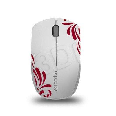 RAPOO Mysz bezprzewodowa optyczna 3300P 1000dpi biało-czerwona