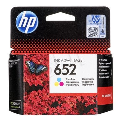 HP Tusz Kolor HP652=F6V24AE, 200 str.