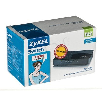 ZyXEL GS108S SWITCH 8x1000Mbit QoS plastic