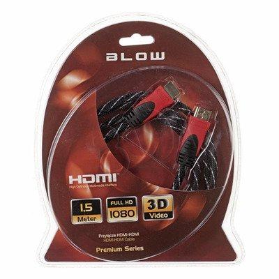 BLOW Przył.HDMI-HDMI PREMIUM proste 1.5m RED
