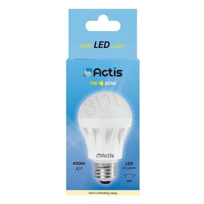 LED SMD ACTIS ACS-HS600W Globe 600lm 7W E27 b.ciepł