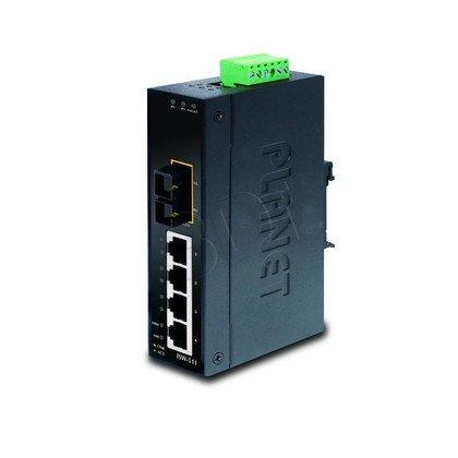 PLANET ISW-511 Switch Przemysłowy 4 x 10/100Mbps + 1 x FX, SC, MM do 2km