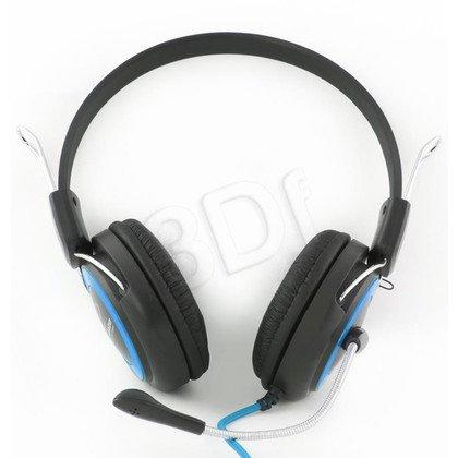 Słuchawki nauszne z mikrofonem Esperanza FALCON (Czarno-niebieski)