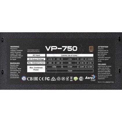 ZASILACZ AEROCOOL PGS VP-750 (750W) 80+ BRONZE