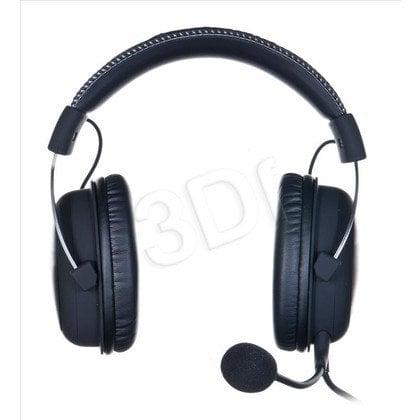 Słuchawki nauszne z mikrofonem Kingston HYPERX CLOUD II (Stalowoszary)