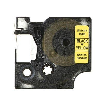 Taśma Dymo D1 19 mm x 7 m czarny/żółty