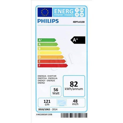 "TV 48"" LCD LED Philips 48PFH4100/88 (Tuner Cyfrowy 100Hz USB)"