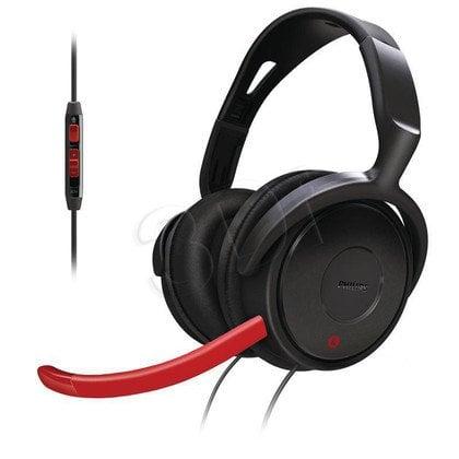 Słuchawki nauszne z mikrofonem Philips SHG7980/10 (Czarno-czerwony)