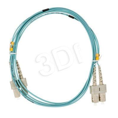 ALANTEC patchcord światłowodowy MM LSOH 2m OM3 SC-SC duplex 50/125 turkusowy