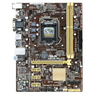 ASUS H81M-PLUS H81 LGA1150 (PCX/DZW/GLAN/SATA3/USB3/DDR3) mATX