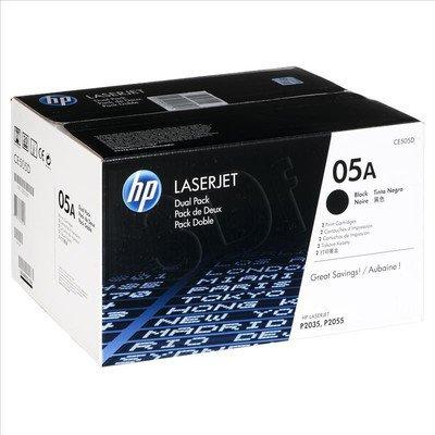 HP Toner Czarny HP05Ax2=CE505D, Zestaw 2xBk, 2xCE505A