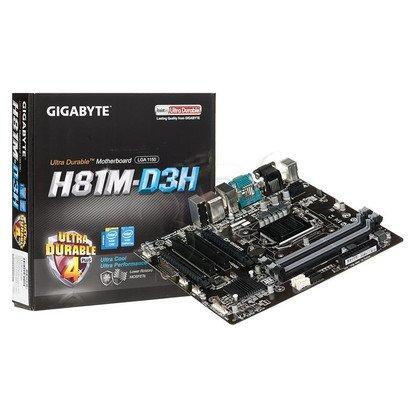 GIGABYTE GA-H81M-D3H H81 LGA1150 (PCX/VGA/DZW/GLAN/SATA3/USB3/DDR3) mATX