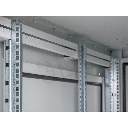 """Triton Szafa rack 19"""" stojąca RDE-42-A66-CCX-A1 (42U, 600x600mm, przeszklone drzwi, kolor jasnoszary RAL7035 , klasa szczelności IP54, udźwig 1"""
