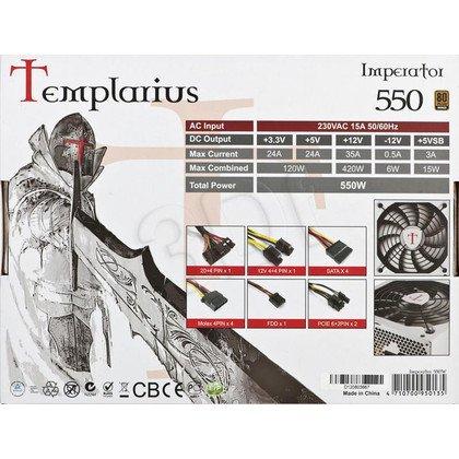 ZASILACZ AEROCOOL TEMPLARIUS IMPERATOR 550 (550W) 80+ BRONZE
