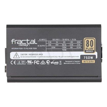FRACTAL DESIGN INTEGRA M 750W MODULARNY 80+ BRONZE