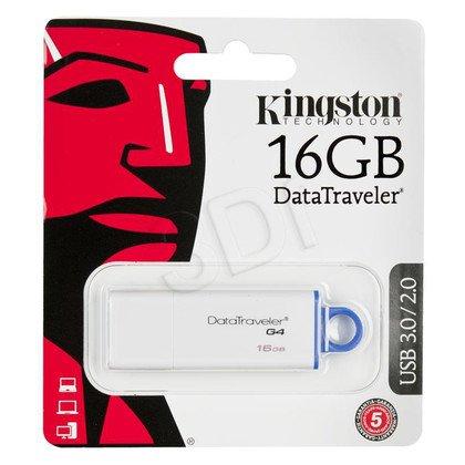 Kingston Flashdrive DataTraveler G4 16GB USB 3.0 Biało-niebieski