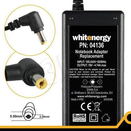 WHITENERGY ZASILACZ 19V/4.74A wtyk 5.5x2.5mm (04136)