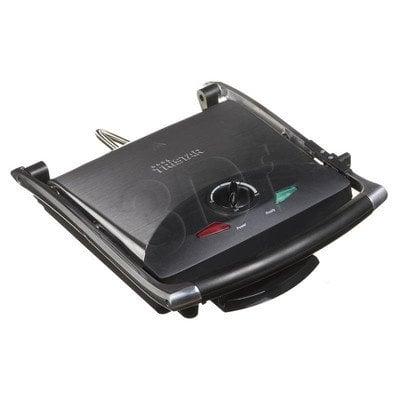 Grill elektryczny Tristar GR-2848 (2000W stołowy-zamykany, czarno-srebrny)