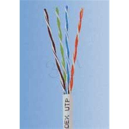 Madex kabel UTP kat.5e PVC 100m POWERNET szary