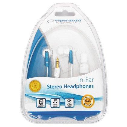 Słuchawki douszne Esperanza EH129 (Biało-niebieski)