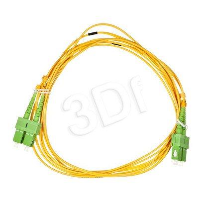 ALANTEC patchcord światłowodowy SM LSOH 3m SC/APC-SC/APC duplex 9/125 żółty