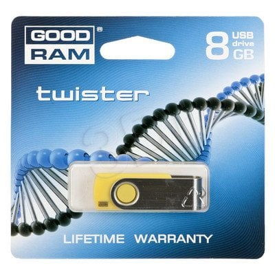 GOODDRIVE FLASHDRIVE 8192MB USB 2.0 Twister Yellow