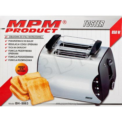 Toster MPM BH-8863 (800W/ inox)