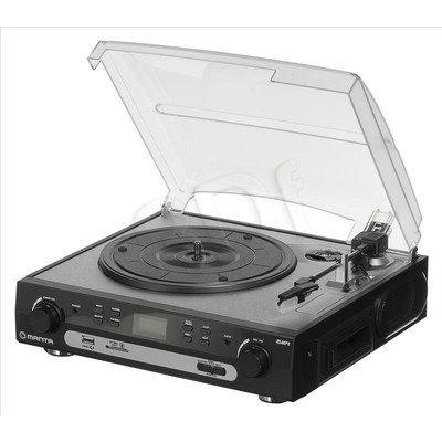 Gramofon Manta MA408 Czarno-srebrny