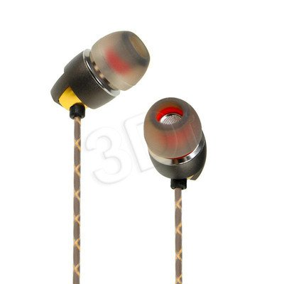 Słuchawki douszne z mikrofonem I-Box Z2 (żółto-szary)