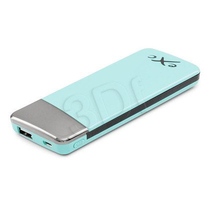 EXC POWERBANK 5500 mAh, USB (2.1A) + WBUDOWANY KABEL MUSB (1.0A), AMAZING, ZIELONY