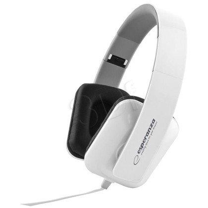 Słuchawki nauszne Esperanza JAZZ EH137W (Biały)