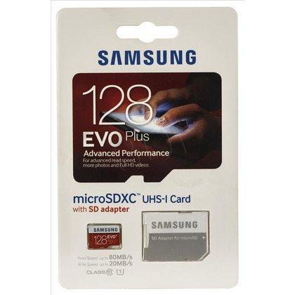Samsung micro SDXC EVO Plus 128GB Class 10,UHS Class U1 + ADAPTER microSD-SD