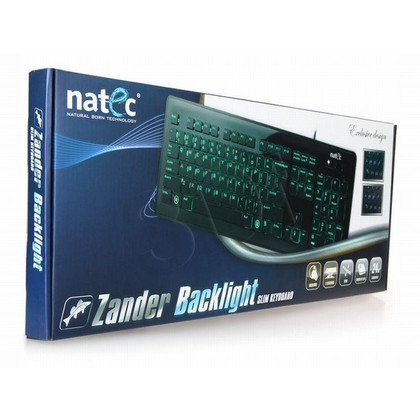 KLAWIATURA NATEC ZANDER BACKLIGHT BLACK