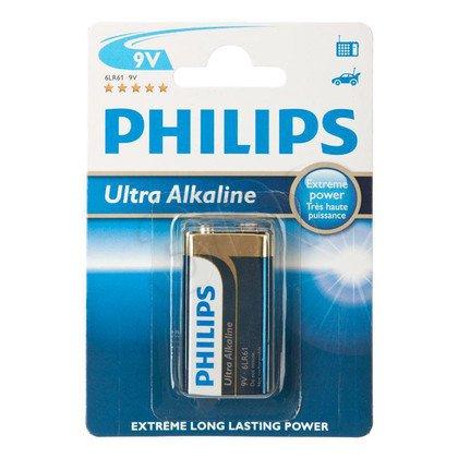Bateria PHILIPS 6LR61E1B/10 ULTRA ALAKLINE ( 9V )