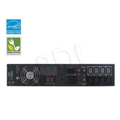 UPS CYBERPOWER OL3000ERTXL2U (VFI, Rack/Tower, 3000VA, 2400W, 9xIEC (9x Backup), FL5min/HL14min, możliwość podłączenia dodatkowych modułów bateryjnych