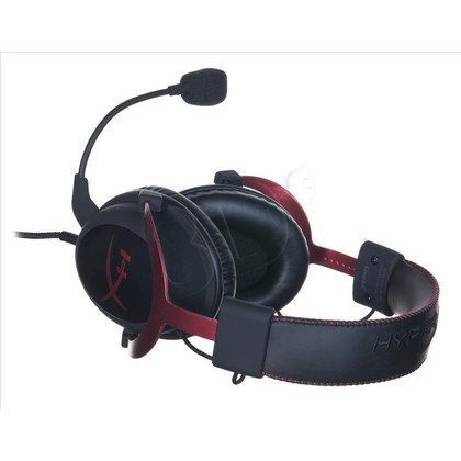 Słuchawki nauszne z mikrofonem Kingston HYPERX CLOUD II (Czerwony)
