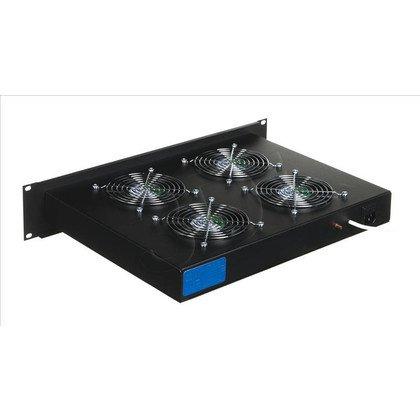 """Triton panel wentylacyjny 19"""" na 4 wentyllatory z termostatem RAB-CH-X02"""