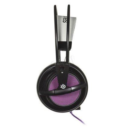 Słuchawki wokółuszne z mikrofonem Steelseries SIBERIA200 (Fioletowo-czarno-szary)
