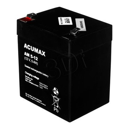 AKUMULATOR ACUMAX 12V 5Ah [AM 5-12] T2