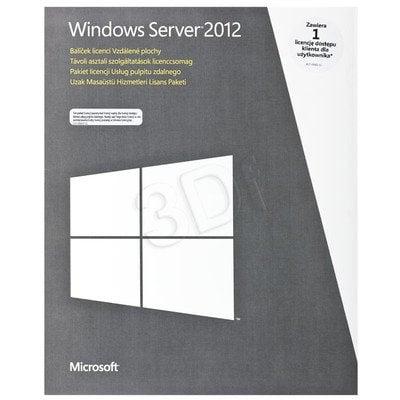 MS Win Remote Desktop Services CAL 2012 PL 1 User CAL (BOX)
