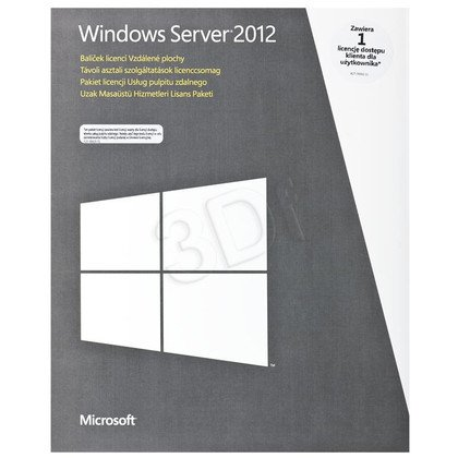 MS Win Remote Desktop Services CAL 2012 PL 1 User CAL (BOX)