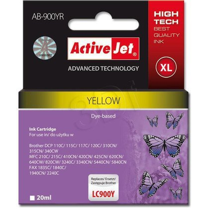 ActiveJet AB-900YR (ABR-900Y) tusz yellow do drukarki Brother, ref. (zamiennik Brother LC900Y)